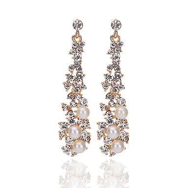 Pentru femei Picătură Imitație de Perle Cristal / Imitație de Perle Cercei Picătură - Design Unic Alb cercei Pentru Petrecere / Zilnic /