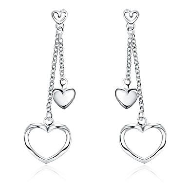 Γυναικεία Κοριτσίστικα Κρεμαστά Σκουλαρίκια Κρυστάλλινο Καρδιά Επάργυρο Heart Shape Κοσμήματα Για Γάμου Πάρτι Καθημερινά Causal