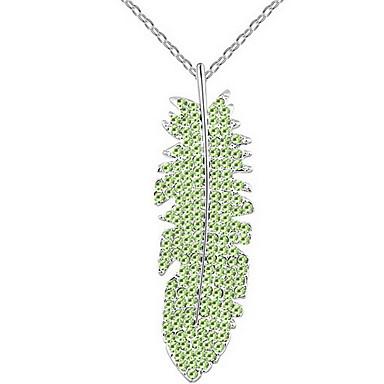 Γυναικεία Κρεμαστά Κολιέ Κρυστάλλινο Leaf Shape Μοναδικό Κοσμήματα Για Γάμου Πάρτι