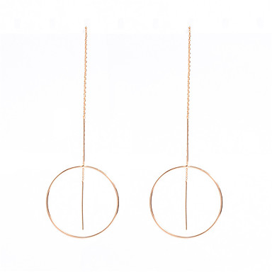 Pentru femei Cercei Rotunzi  Cercei Dangle Bijuterii Personalizat Modă Articole de ceramică Altele Circle Shape Bijuterii Auriu Argintiu