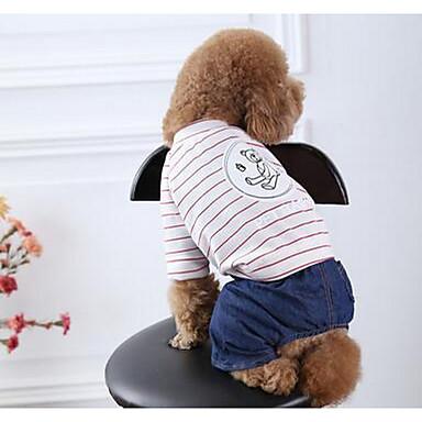 Câine Haine Îmbrăcăminte Câini Draguț Casul/Zilnic Desene Animate Negru Roz Costume Pentru animale de companie