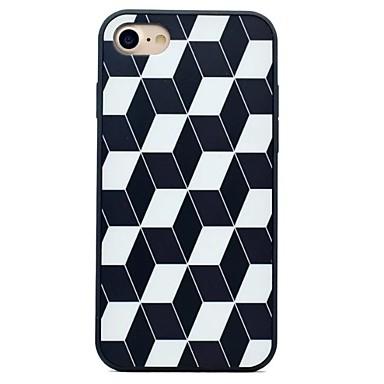 Varten Iskunkestävä IMD Himmeä Etui Takakuori Etui Geometrinen printti Kova PC varten AppleiPhone 7 Plus iPhone 7 iPhone 6s Plus iPhone 6