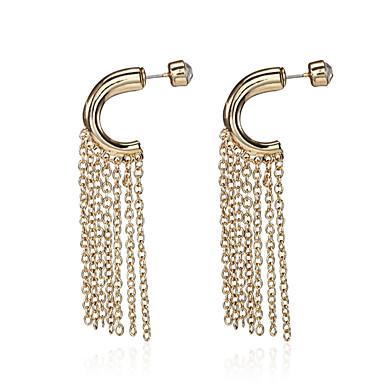 Kadın's Damla Küpeler Mücevher sevimli Stil Elyapımı İfade Takıları Bohemia Stili alaşım Line Shape Mücevher UyumlulukDüğün Parti