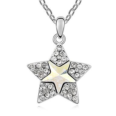 Pentru femei Coliere cu Pandativ Cristal Star Shape De Bază Bijuterii Pentru