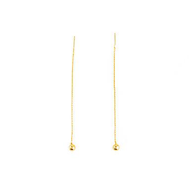 Damskie Breloczki / Kolczyki zwisają - Geometrické, Europejski, minimalistyczny styl Gold / Silvery Na Codzienny / Casual
