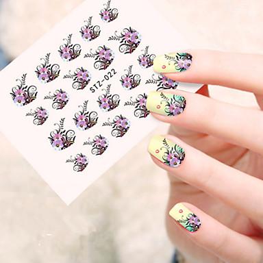 5pcs/set Sanat Sticker Nail Su Transfer Etiketi Makyaj Kozmetik Sanat Tasarım Nail