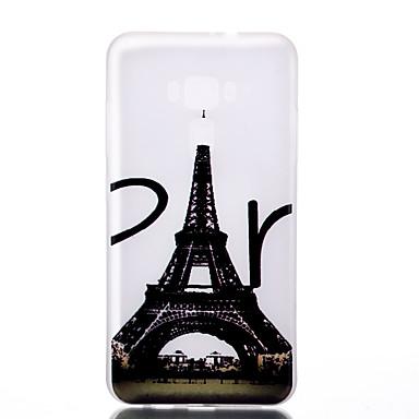Için Karanlıkta Parlayan Buzlu Yarı Saydam Temalı Pouzdro Arka Kılıf Pouzdro Eiffel Kulesi Yumuşak TPU için AsusAsus ZenFone 3