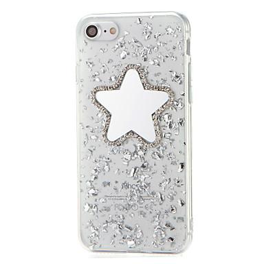 Pentru Stras Oglindă Reparații Maska Carcasă Spate Maska Shine Glitter Moale TPU pentru AppleiPhone 7 Plus iPhone 7 iPhone 6s Plus iPhone