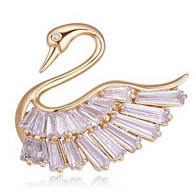 Γυναικεία Καρφίτσες Κοσμήματα Μοναδικό Άνιμαλ Euramerican Εξατομικευόμενο Ζιρκονίτης Κράμα Animal Shape Κοσμήματα Κοσμήματα Για Πάρτι