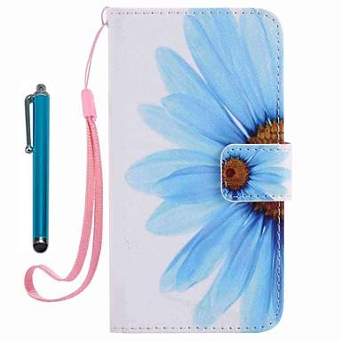 Hülle Für Apple iPhone 7 / iPhone 7 Plus Geldbeutel / Kreditkartenfächer / mit Halterung Ganzkörper-Gehäuse Blume Hart PU-Leder für
