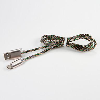 USB 2.0 اكتب C محمول كابل من أجل Samsung Huawei Sony Nokia HTC Motorola LG Lenovo Xiaomi 100 cm معدن PVC
