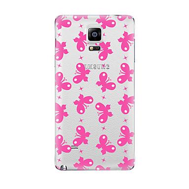 Için Şeffaf Temalı Pouzdro Arka Kılıf Pouzdro Kelebek Yumuşak TPU için Samsung Note 5 Note 4 Note 3 Note 2