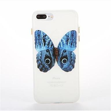 tok Για Apple Λάμπει στο σκοτάδι Με σχέδια Πίσω Κάλυμμα Πεταλούδα Μαλακή TPU για iPhone 7 Plus iPhone 7 iPhone 6s Plus iPhone 6 Plus