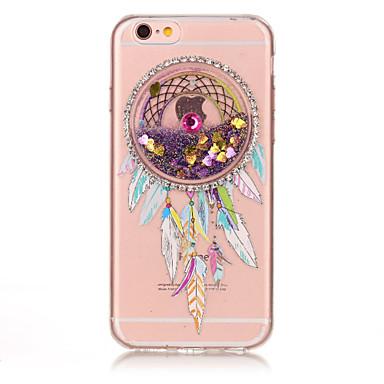 tok Για Apple iPhone 7 / iPhone 7 Plus Στρας / Ρέον υγρό / Ανάγλυφη Πίσω Κάλυμμα Ονειροπαγίδα Μαλακή TPU για iPhone 7 Plus / iPhone 7 /