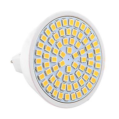7W 500-700lm GU5.3(MR16) Lâmpadas de Foco de LED MR16 72 Contas LED SMD 2835 Decorativa Branco Quente Branco Frio Branco Natural 110-220V
