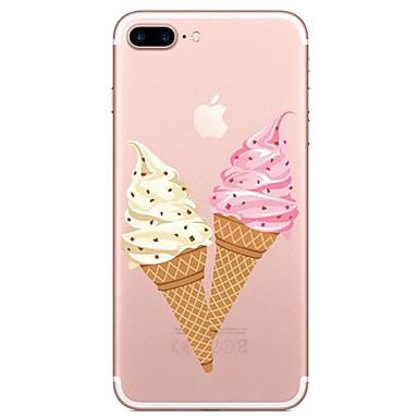Pentru Transparent Model Maska Carcasă Spate Maska Hrană Moale TPU pentru AppleiPhone 7 Plus iPhone 7 iPhone 6s Plus iPhone 6 Plus iPhone