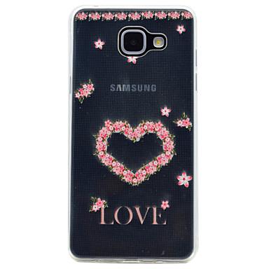 Hülle Für Samsung Galaxy A5(2017) A3(2017) Transparent Muster Rückseite Blume Weich TPU für A3 (2017) A5 (2017) A7 (2017) A5(2016)