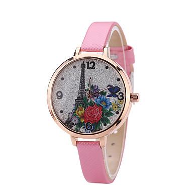Damskie Zegarek na nadgarstek Kwarcowy Skóra Pasmo Na co dzień Czarny Biały Niebieski Czerwony Brązowy Różowy Beżowy RoseFuchsia Brown