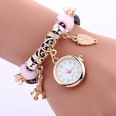 Modny Zegarek na nadgarstek Zegarek na bransoletce Kwarcowy Tkanina Pasmo Z Wisorkami Nowoczesne Na co dzień KreatywneCzarny Czerwony