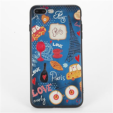 Varten Kuvio Etui Takakuori Etui Piirros Pehmeä TPU varten Apple iPhone 7 Plus iPhone 7 iPhone 6s Plus iPhone 6 Plus iPhone 6s iPhone 6