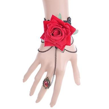 Pentru femei Brățări cu Lanț & Legături La modă Dantelă Leaf Shape Bijuterii Pentru Nuntă Petrecere Ocazie specială Zi de Naștere Cadouri
