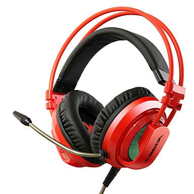 kulağın üzerine xiberia v10 titreşim oyun kulaklık mikrofon ile hafif stereo kulaklık pc oyun bilgisayarı süper bas ışıma kulaklıkları
