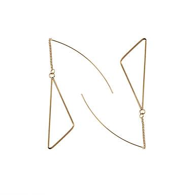 Naisten Pisarakorvakorut Muoti Euramerican Metalliseos Geometric Shape Triangle Shape Korut Käyttötarkoitus Häät Party Päivittäin