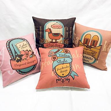 1 τεμ Λινό Μαξιλάρι Ταξιδίου Καναπές μαξιλάρι Προστατευτική Θήκη Μαξιλαριού Μαξιλαροθήκη Μαξιλάρι Σώματος,Πόλεις Γραφικά Σχέδια