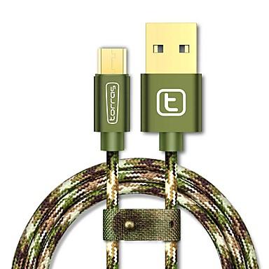 Micro USB 2.0 USB 2.0 Adapter kabla USB Kręcone Kable Na Samsung Huawei LG Nokia Lenovo Motorola Xiaomi HTC Sony 300 cm Aluminium Nylon