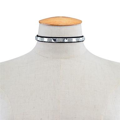 Pentru femei Pătrat Personalizat Pătrat Modă Euramerican Coliere Choker Ștras Ștras Coliere Choker . Zilnic Casual