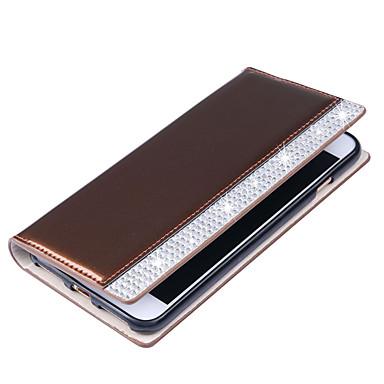 Pouzdro Uyumluluk Samsung Galaxy S7 edge S7 Kart Tutucu Cüzdan Taşlı Flip Tam Kaplama Kılıf Tek Renk Sert PU Deri için S7 edge S7 S6 edge