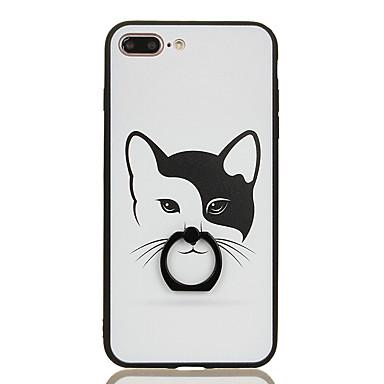 tok Για iPhone 7 Plus iPhone 7 Apple Βάση δαχτυλιδιών Με σχέδια Πίσω Κάλυμμα Γάτα Σκληρή PC για iPhone 7 Plus iPhone 7