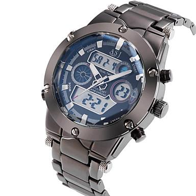 ASJ Homens Relógio de Pulso Japanês Alarme / Calendário / Cronógrafo Aço Inoxidável Banda Luxo Prata