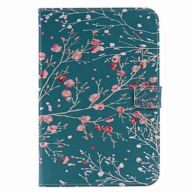 Uyumluluk Kılıflar Kapaklar Cüzdan Kart Tutucu Satandlı Oto Uyu / Uyan Flip Temalı Tam Kaplama Pouzdro ağaç Sert PU Deri için AppleiPad