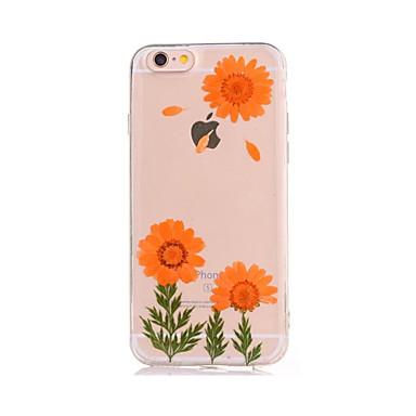Için Kendin-Yap Pouzdro Arka Kılıf Pouzdro Çiçek Yumuşak TPU için AppleiPhone 7 Plus iPhone 7 iPhone 6s Plus iPhone 6 Plus iPhone 6s