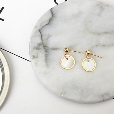 Vidali Küpeler Moda Deniz Kabuğu alaşım Round Shape Altın Mücevher Için Günlük 1 çift