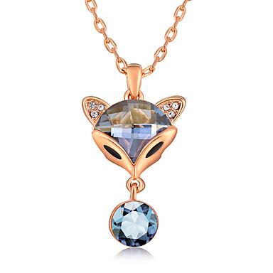 Damskie Naszyjniki z wisiorkami Kryształ Zwierzęta Słodkie Style euroamerykańskiej Biżuteria Na Ślub Impreza Urodziny
