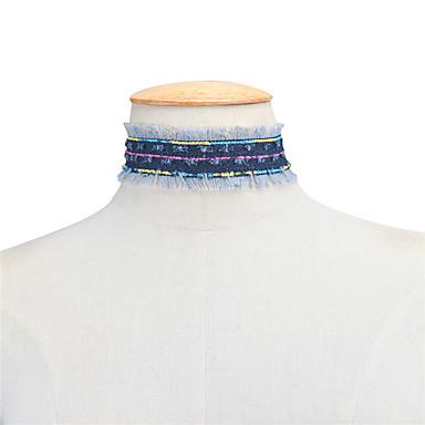 Pentru femei Șuviță unică Personalizat Modă Euramerican Coliere Choker Bijuterii Material Textil Coliere Choker . Zilnic Casual