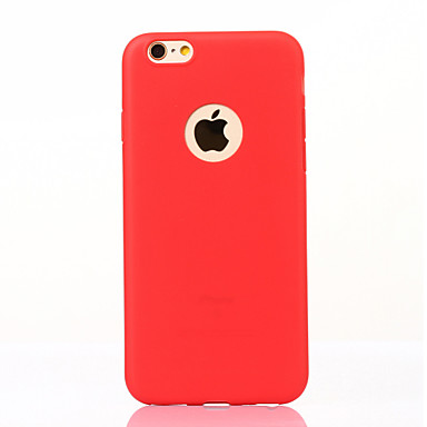 Pouzdro Uyumluluk iPhone 7 Apple Ultra İnce Buzlu Arka Kapak Solid Yumuşak TPU için iPhone 7