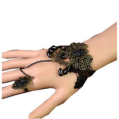 Damskie Bransoletki i łańcuszki na rękę Modny Koronka Flower Shape Biżuteria Na Ślub Impreza Specjalne okazje Urodziny Prezenty