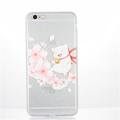 Varten Kuvio Etui Takakuori Etui Kissa Kukka Pehmeä TPU varten AppleiPhone 7 Plus iPhone 7 iPhone 6s Plus iPhone 6 Plus iPhone 6s iPhone