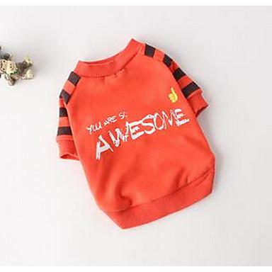 Koira T-paita Koiran vaatteet Sievä Rento/arki Sarjakuva Oranssi Harmaa