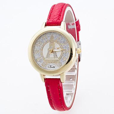 Damskie Sportowy Do sukni/garnituru Modny Zegarek na nadgarstek Sztuczny Diamant Zegarek Kwarcowy Duża tarcza Skóra naturalna PasmoZ