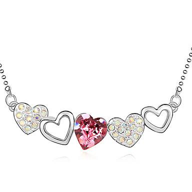 Naisten Yksilöllinen Love Heart Muoti Euramerican Riipus-kaulakorut Kristalli Riipus-kaulakorut , Häät Party Syntymäpäivä