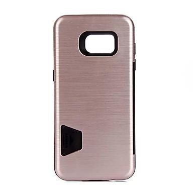 غطاء من أجل Samsung Galaxy S7 edge S7 حامل البطاقات ضد الصدمات غطاء خلفي لون الصلبة قاسي PC إلى S7 edge S7 S6