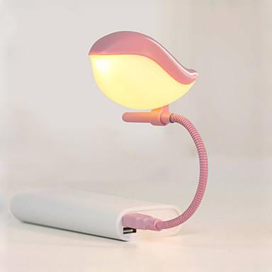 1buc noutate lampă cadou USB pasăre minunat condus lampă de noapte portabil mini-lumina de noapte pentru tastatura laptop copii ochi lampă
