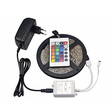 Σετ Φώτων 300 LEDs RGB Τηλεχειριστήριο Μπορεί να κοπεί Με ροοστάτη Αλλάζει Χρώμα Αυτοκόλλητο Κατάλληλο για Οχήματα Συνδέσιμο 100-240V