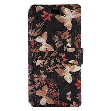 Για Θήκη καρτών με βάση στήριξης Ανοιγόμενη Με σχέδια tok Πλήρης κάλυψη tok Πεταλούδα Σκληρή Συνθετικό δέρμα για HuaweiHuawei P9 Lite