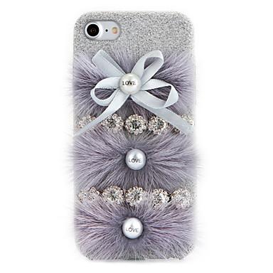 Pouzdro Uyumluluk Apple iPhone 7 Plus iPhone 7 Taşlı Kendin-Yap Arka Kapak Tek Renk Sert Tekstil için iPhone 7 Plus iPhone 7 iPhone 6s