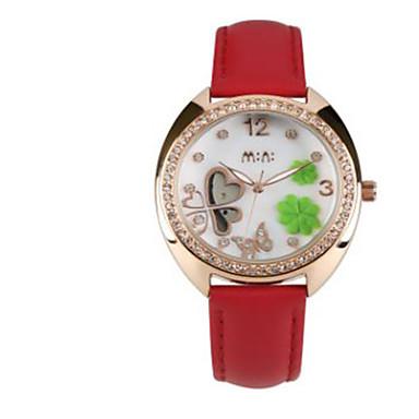 Bărbați Ceas La Modă Quartz / Piele Bandă Casual Alb Roșu
